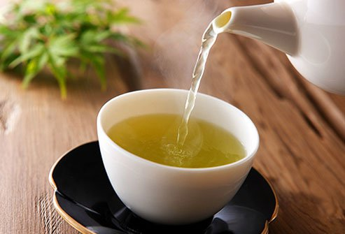 Antioxidants in green tea may help protect against certain types of cancers.