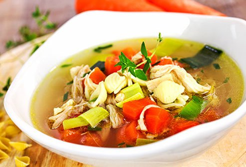 Chicken soup really can help you get over a cold.