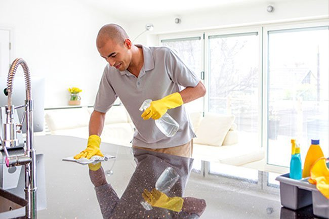 After a house member is sick, make sure to disinfect your home.