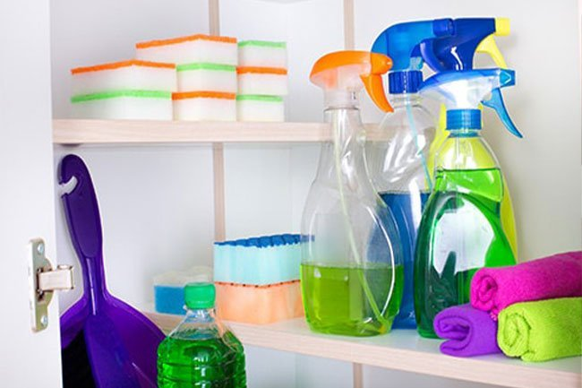 Don't spread germs around your house. Use a different cloth or sponge in each room.