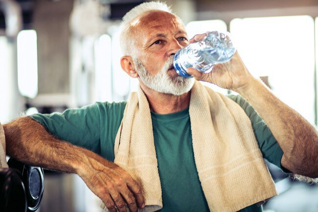 Stay cool while playing sports by drinking lots of water.
