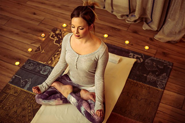Find ways to ease your stress before you go to bed.