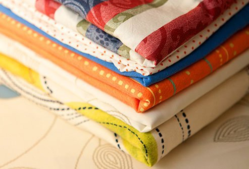 Look for cotton or linen with a thread count between 200 and 400.