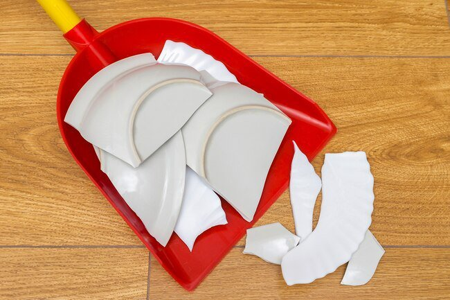 Take care to clean up broken glass carefully and thoroughly.