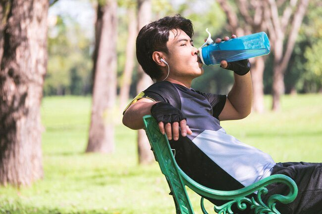 You sweat more when you exercise, which means you lose water more quickly.