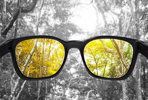 Aging affects the lens of the eye and may make it more difficult to perceive colors.