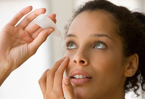Dry eye syndrome is a common eye problem.