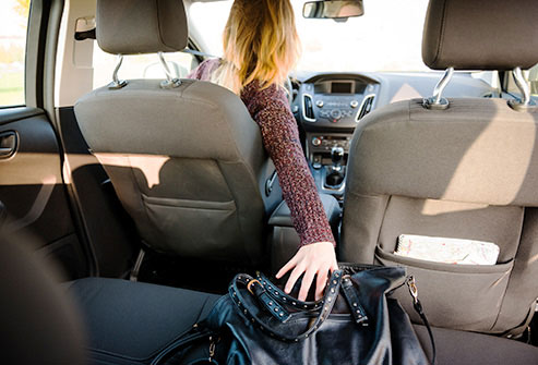 Germs love to hide inside purses.