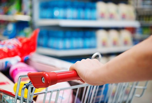 How many germs do you pick up when you touch a grocery cart?