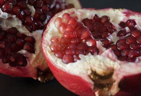 A pomegranate fruit.