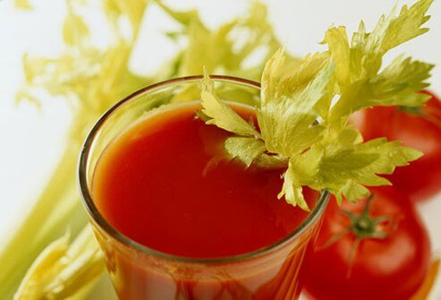 The lycopene in tomato juice may help lower the risk of prostate cancer.
