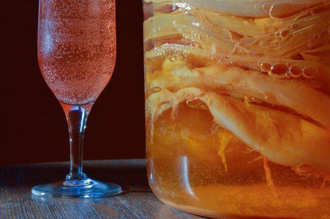 Kombucha has minimal alcohol due to the fermentation process used to make it.