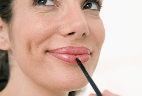 Over-the-counter lip-plumping lipstick can make lips appear more youthful.