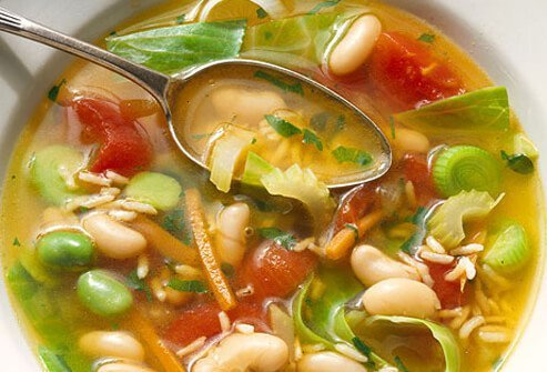 Soup is a great choice both as an appetizer and a main meal.