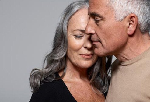 A mature couple, low testosterone affects sex.