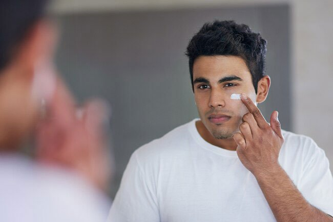 To keep your face breakout- and rash-free, wash your face with a gentle cleanser.