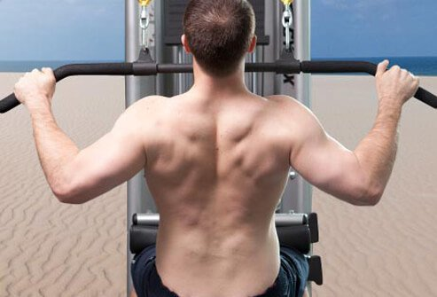 Photo of lat pulldown.
