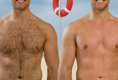 To avoid prickly stubble, waxing is a better option than shaving for large areas like the chest and back.