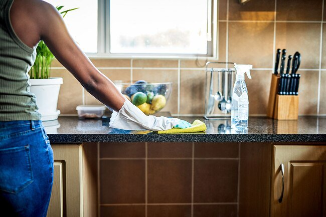 Always pre-clean a dirty surface before you use an antibacterial wipe.