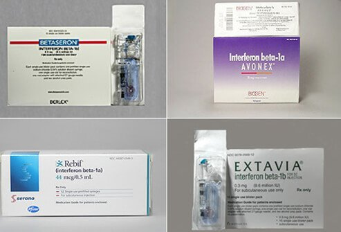 Betaseron®, Avonex®, Rebif®, Extavia® are beta-interferons available today in the treatment of multiple sclerosis.