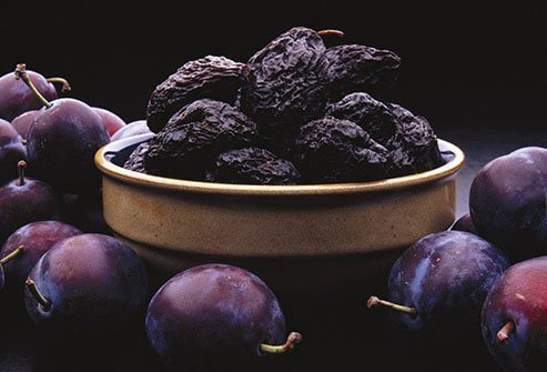 Prunes are a proven home remedy for constipation.