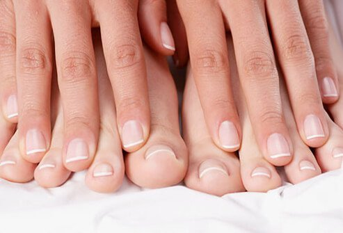 It may take many months for a damaged nail to replace itself entirely.