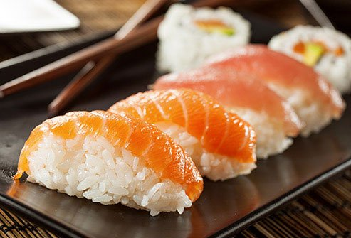 Fatty kinds like salmon, tuna, and mackerel are rich with vitamin D.