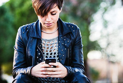 "Hunching over your smartphone can cause the disorder known as ""text neck."""