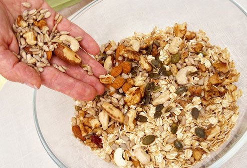 Nuts and seeds provide vitamins, minerals, and healthy fats.