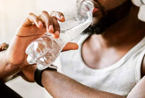 Most people can stay hydrated by drinking water when they are thirsty.