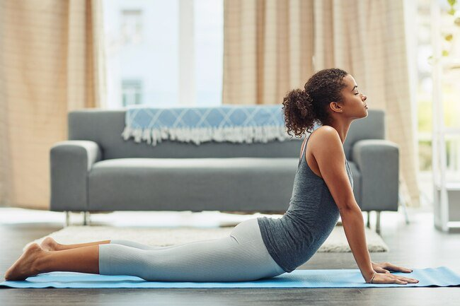 Menstrual cramps can bring pain to your stomach, lower back, pelvis, and upper legs. But some good stretches and moderate exercise can help.