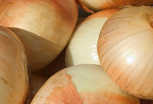 Close-up of onions.