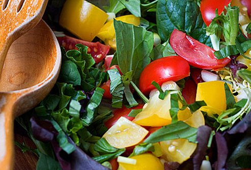 A colorful, garden fresh salad.