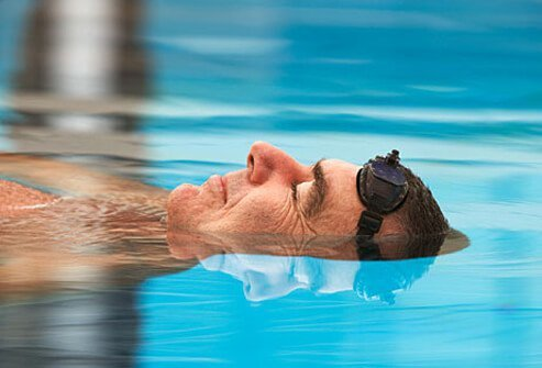 Swimming, walking through a pool, and other water-based exercises are ideal for relieving the pain and stiffness of osteoarthritis.