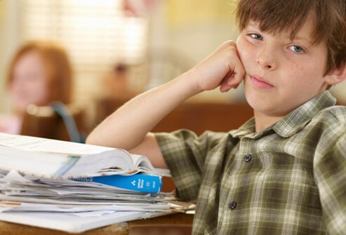 ADHD often affects children learning in school.