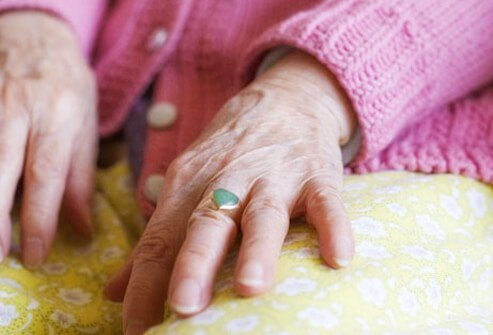 Photo of elderly woman's hands.