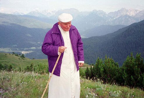 Photo of Pope John Paul II in Italy.