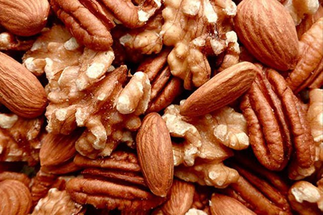 Nuts decrease inflammation and improve cholesterol levels.