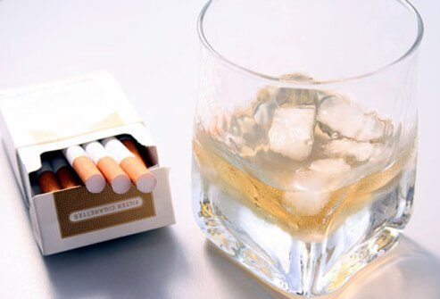 Smoking cigarettes and drinking alcohol can trigger psoriasis.