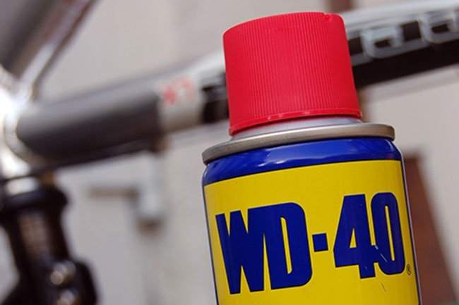 WD-40 is made from the same raw material as kerosene, so don't apply it on your skin.