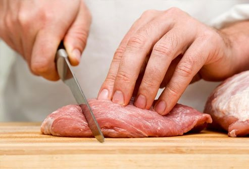Raw or undercooked pork can have bacteria like salmonella, E. coli, and listeria.