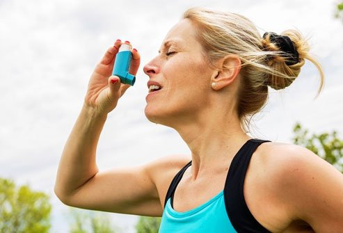 Asthma narrows airways.