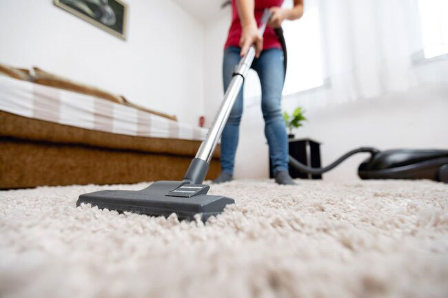 Carpet traps dirt, dust and pet dander so HEPA vacuum it frequently throughout the week.