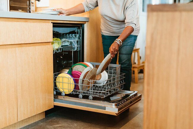Clean the filter in your dishwasher to remove food particles that may lead to bad smells.