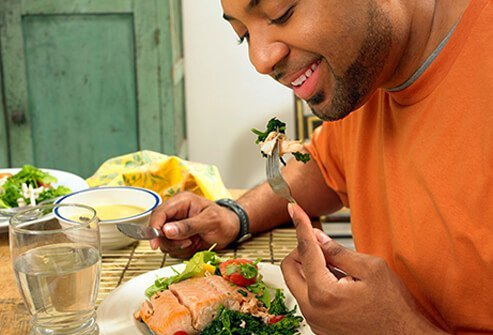 Fish can be a lower-sodium choice.