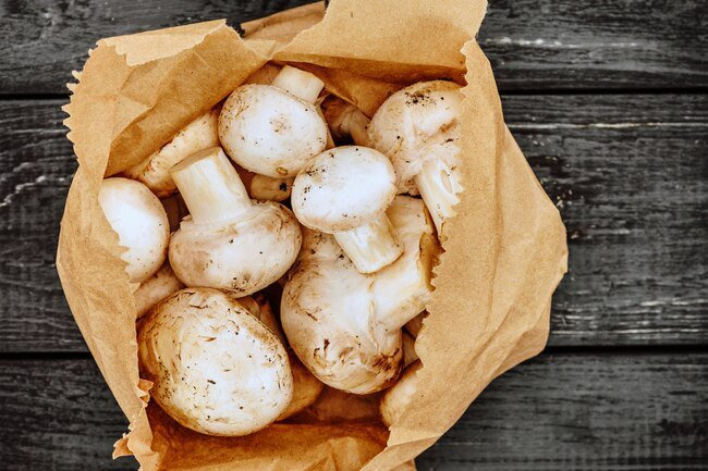 Mushrooms are best kept cool and in a well-ventilated area.