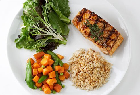 Photo of healthy portions on plate.