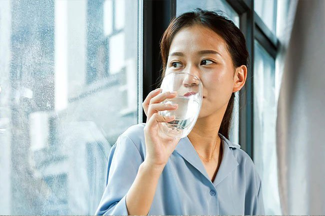 If you're really thirsty or dehydrated it might be a sign of too much salt.