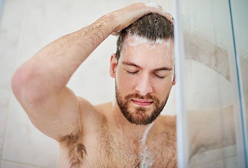 The hotter the shower, the drier your skin will be afterwards.
