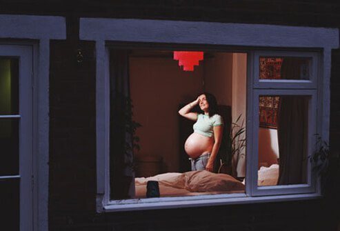 A pregnant woman with insomnia.
